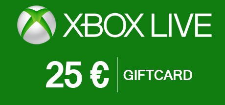 Xbox Live 25 Euro Gift Card - Xbox Live Download Code
