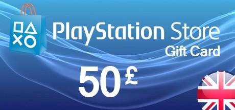 PSN Playstation Network Card 50 GBP - UK
