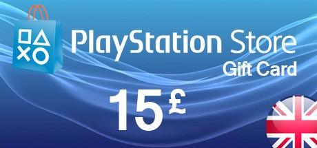 PSN Playstation Network Card 15 GBP - UK