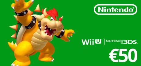 Nintendo eShop Guthaben Code 50 Euro [Nintendo 3DS / Nintendo Wii U / Nintendo Switch – Nintendo eShop Code]