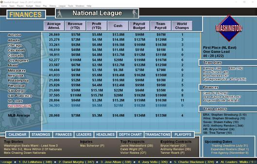 Baseball Mogul 2017 Screenshot